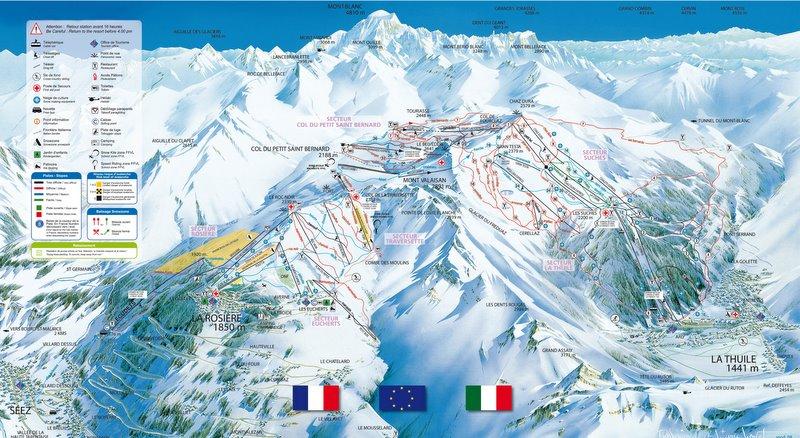 Skigebied La Rosiere